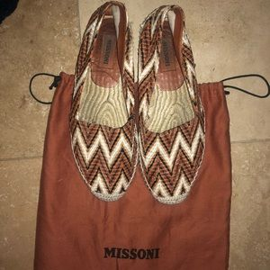 Missoni size 38 slide on sneakers classic pattern